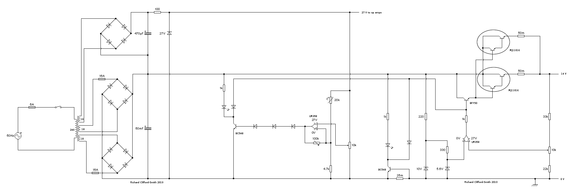 14 volt 25 amp battery chargerpower supply circuit diagram for the power supply pooptronica Image collections